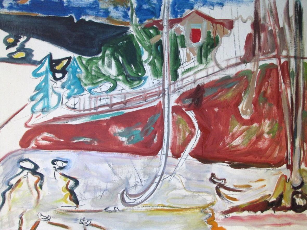 """Justinas Vaitiekūnas pristato tapybos ir piešinių parodą VDA parodų salėse """"Titanikas"""""""