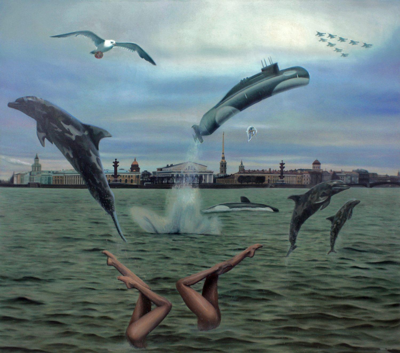 """Tapytojas Rodion Petroff parodoje """"Abejonės ir ginčai"""" gvildena kasdienes aktualijas"""
