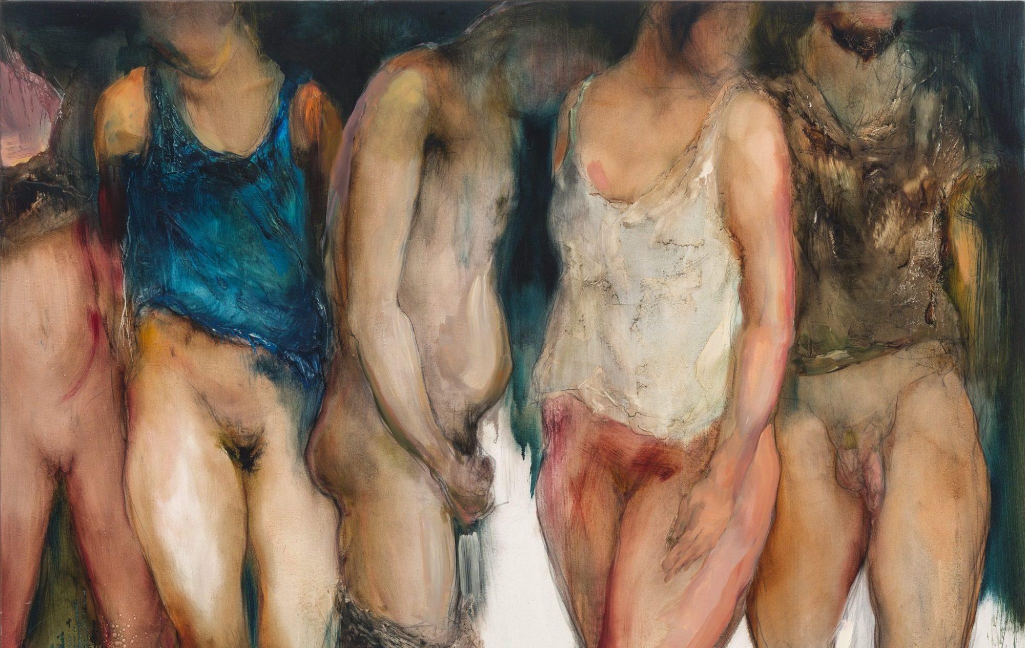 """Besikeičiantis žmogaus kūnas – Medos Norbutaitės tapybos parodoje """"Kitimas"""""""