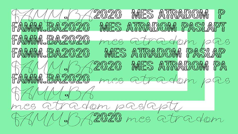 #FAMM.BA2020: MES ATRADOM PASLAPTĮ